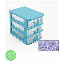 Mini Plastic Makeup Lipstick Jewelry Organizer Holder Box Storage Case Drawers