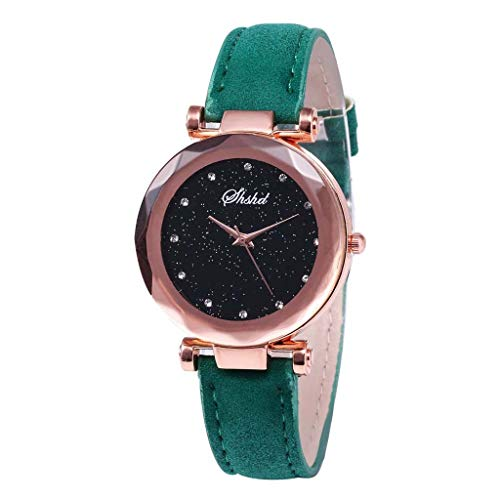 Winsopee Quartz Belt Ladies Watch a Sleek Luxury Diamond and Diamond Star dial Casual Fashion Watch(Green)