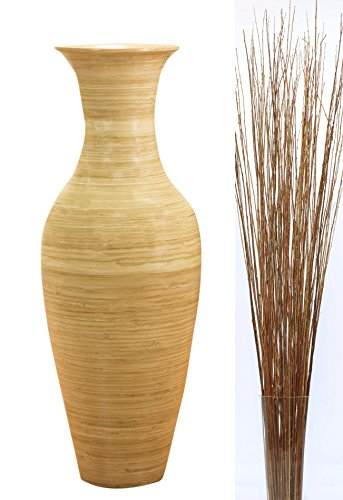 """GreenFloralCrafts 47"""" Tall Classic Natural Bamboo Floor V..."""