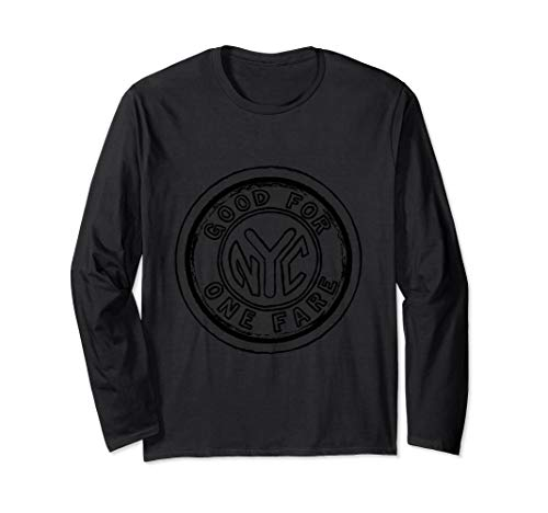NYC Subway Token Art Long Sleeve Shirt in Five Colors (Subway Token Nyc)