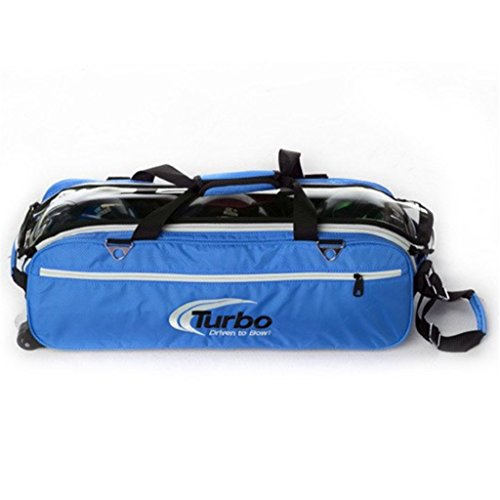 Turbo Express 3 Ball Travel Tote- Electric Blue by Turbo Bowling Grips