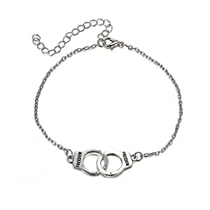 HENGSONG Couple Simple Personality Love Handcuffs anklet,Best Gift for Your Lover