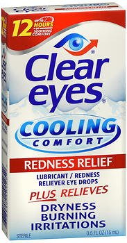 Clear Eyes Cooling Comfort Redness Relief Eye Drops - 0.5 oz, Pack of 3
