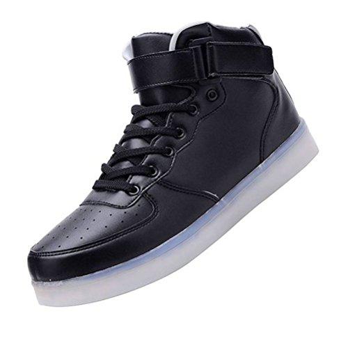 Presente JUNGLEST® LED flash deporte pequeña carga Snea de Zapatillas de mujer USB Black toalla para con Sw8rqS