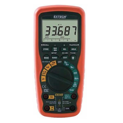 Wireless True Rms Multimeter - Extech EX540 Wireless 12-Function True RMS Industrial MultiMeter And Datalogger