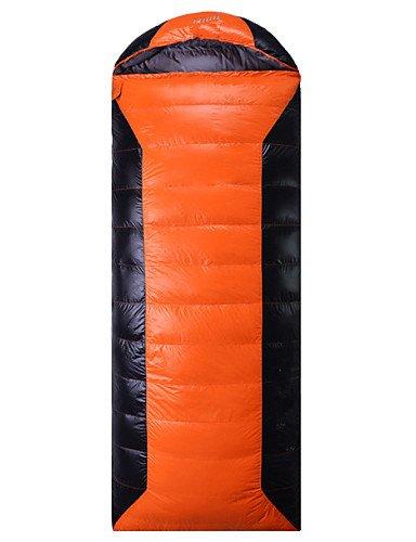 Saco de dormir rectangular bolsa solo 2500 G -39? 3 Color plumón de pato, rojo: Amazon.es: Deportes y aire libre