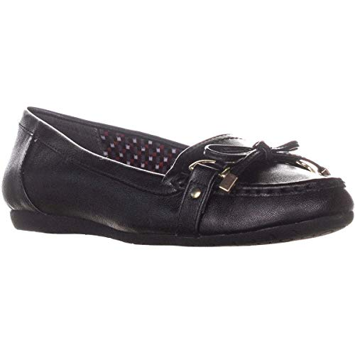Charter Club Womens Betsey Round Toe Slide Flats, Black, Size 7.5 from Charter Club