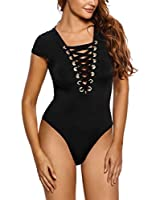 JomeDesign Women Black Sheer Mesh Long Sleeve Jumpsuit Bodysuits