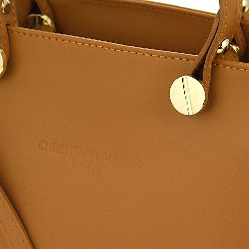 Christian Laurier - Sac à main en cuir modèle Robyn Camel - Sac à main haut de gamme fabriqué en Italie