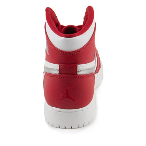 Nike Air Jordan 1 Retro High Bg, Zapatillas de Baloncesto para Niños, Rojo (Rojo (Gym Red/Metallic Silver-White)), 37 1/2 EU