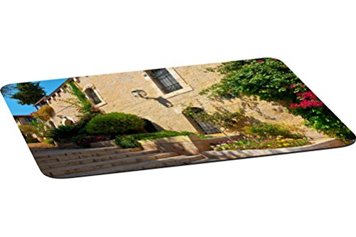 Large Jerusalem Stone (Rikki Knight Stone Steps In Jerusalem Large Non-Slip Fabric Top Table Place Mats with Rubber Backing (set of 2))