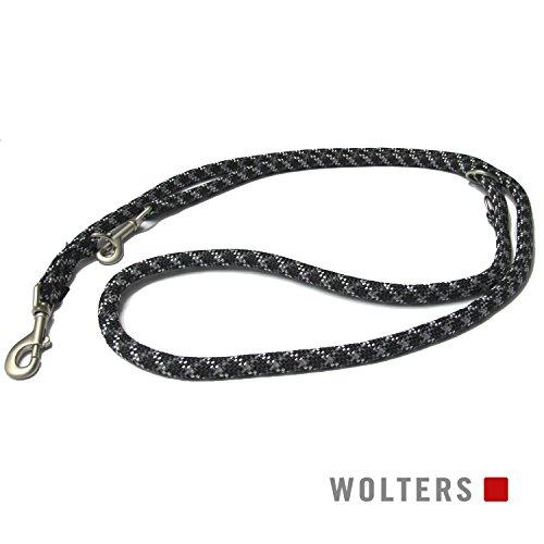 Wolters | Führleine Everest reflektierend in Schwarz/Graphit | L 200 cm x B 0,9 cm