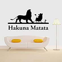 Fange DIY Removable Movie The Lion King Simba Art Mural Vinyl Waterproof Wall Stickers Kids Room Decor Nursery Decal Sticker Wallpaper 39.3''x19.6'' (Simba)