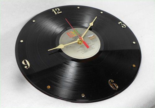 "DAVID BOWIE Recycled Vinyl Record Clock – ""Let's Dance"" (1983) (Recycled Clock)"