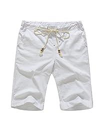Banana Bucket Men's Linen Casual Classic Fit Short
