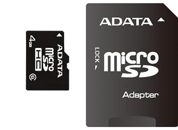 A-Data - Tarjeta de Memoria 4 GB MicroSD con Adaptador ...