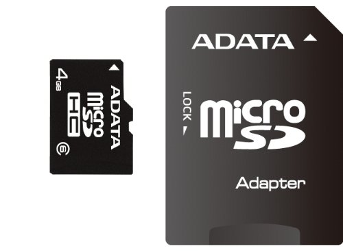 ADATA 4 GB Class 6 microSDHC Flash Memory Card 4GUSDHC6 by ADATA
