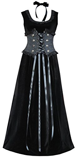 Brocade Velvet Women's Corset & Dress