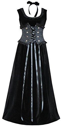 Brocade Velvet Women's Corset & Dress