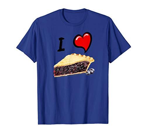 (I love Blueberry pie t-shirt fun cherry pie lovers tee shirt)