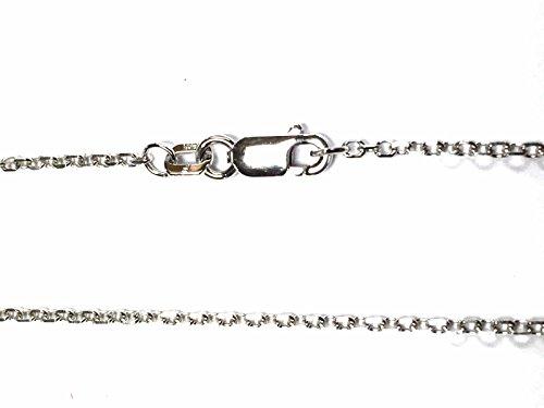 Goddess 14k Necklace (14kt 14K White Solid Gold 16