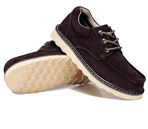 Dedo Acento Irlandés Ante Pie Trabajo Zapatos Cordones Tamaño Derby 38 Llanura De A Hombre 45 Eu38 Swnx Darkbrown Del eu43 wx8pWngqW