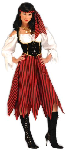 Forum Novelties Women's Pirate Maiden Plus Size Costume, Multi Colored, Standard X-Large -