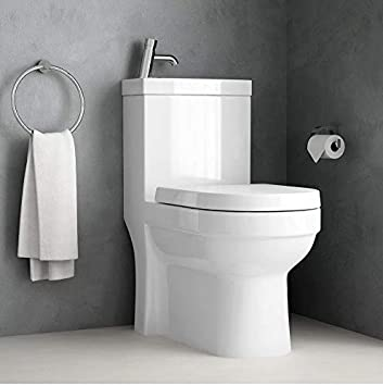 2in1 Cloakroom Space Saving Combi Duo Toilet With Cistern Sink Basin Tap Amazon Co Uk Diy Tools