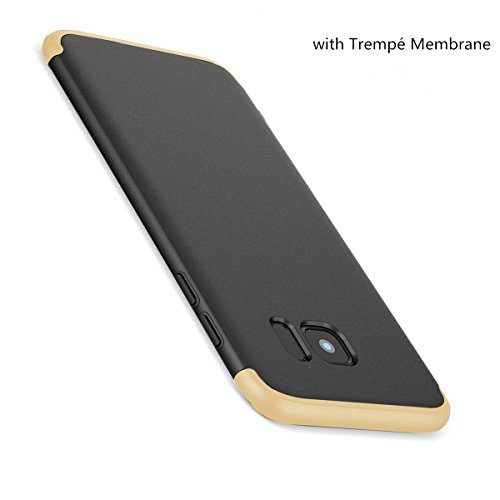 S7 or Intgrale Mince Galaxy Ultra Galaxy Membrane Edge Anti PC Coque en Verre Tremp S7 Scratch 3 Protection Edge Noir Anti Choc Etui Samsung 360 1 Case Bqxq7wFY