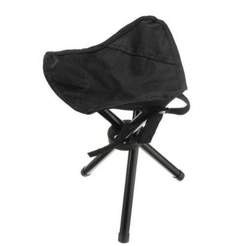 Outdoor Portable Folding Tripod Camping Hiking Fishing Picnic Stool Chair Seat color Black (Fl Furniture Bedroom Melbourne)