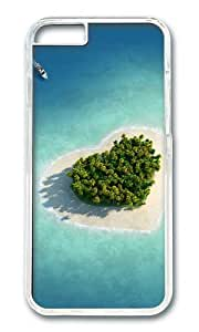 MOKSHOP Adorable Heart shaped at sea Hard Case Protective Shell Cell Phone Cover For Apple Iphone 6 Plus (5.5 Inch) - PC Transparent