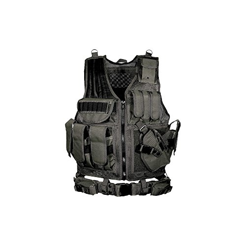 (UTG 547 Law Enforcement Tactical Vest, Black)