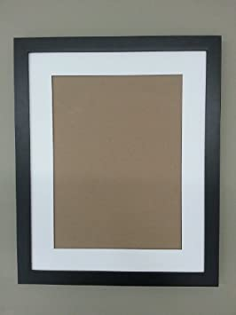 amazoncom 20x24 1 14 black solid wood flat frame with white mat for 16x20 picture arts crafts sewing