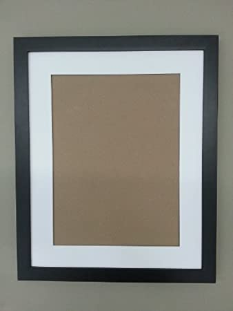 20x24 1 14 black solid wood flat frame with white mat for 16x20 picture