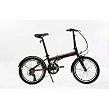 "EuroMini Via 20"" Folding Bike-Lightweight Aluminum Frame Genuine Shimano 7-speed 26lb"