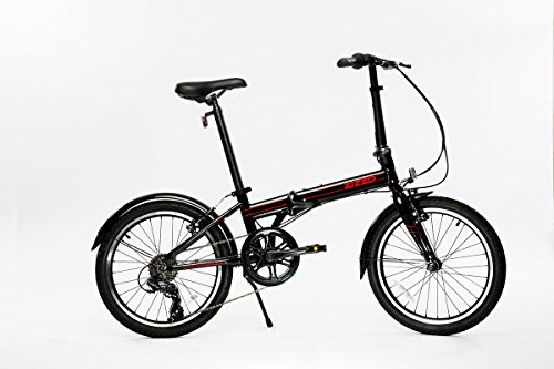 "Lightweight Folding Bicycle - EuroMini Via 20"" Folding Bike-Lightweight Aluminum Frame Genuine Shimano 7-Speed 26lb"