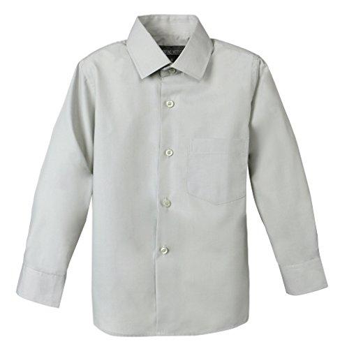 Spring Notion Big Boys' Long Sleeve Dress Shirt 4T Grey]()