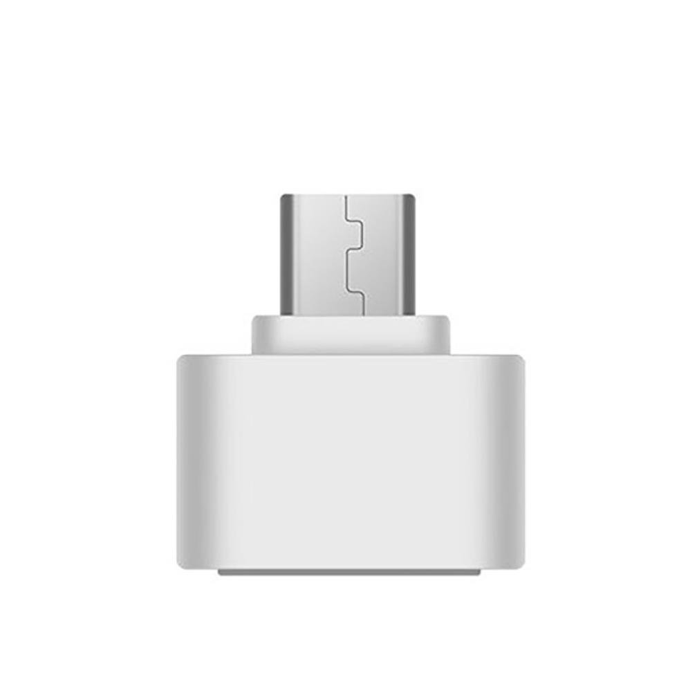 OTG USB 2.0 Female to USB 3.1 Type C Male Converter USB-C OTG Adapter for Smartphone PC Desktop (White)