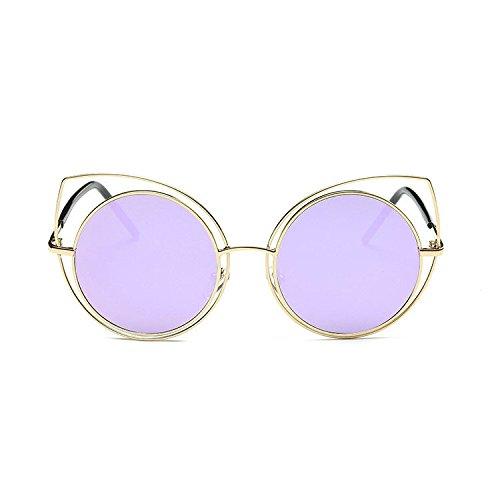 Aoligei Creusent de la mode film marée cadre grand rond métallique Lunettes de soleil lunettes de soleil Eye NXPhxYVBG