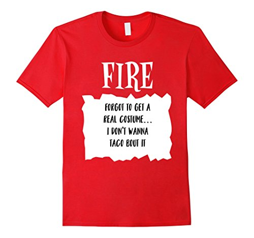 Costumes Procrastinator Halloween (Mens Taco Fire Hot Sauce Halloween Costume T shirt Large)