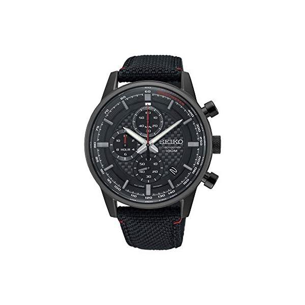 Seiko Orologio Cronografo Quarzo Uomo con Cinturino in Nylon SSB315P1 2