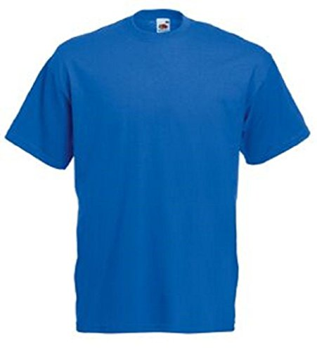 Unita Girocollo shirt Of Valueweight Fruit Tinta Basic Blu A Loom The T qgv78Ax