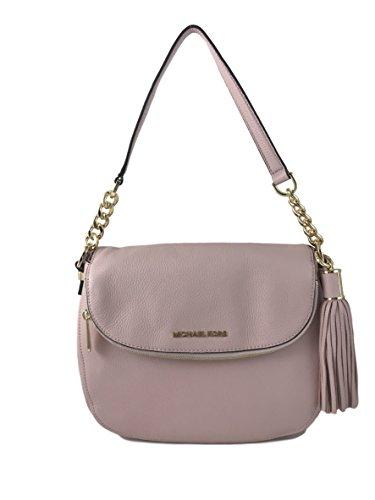Michael Kors Medium Leather Bedford Tassel Convertible Shoulderbag Handbag, Blossom
