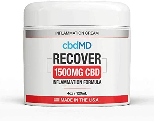 1500mg Organic Recover Cream Tub Msm Vitamin B6 Arnica Pain Stress Relief Topical Lotion Joints Aches Skin Support U.S. Grown Hemp Soreness Inflammation Omegas