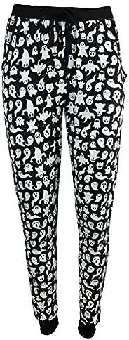 Pillow Talk Women's Halloween Theme Jogger Pajama Pants with Poc