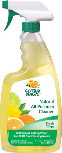 Citrus Magic Natural All Purpose Cleaner, Fresh Citrus Scent, 22-Ounce (Natural Grease Cleaner)