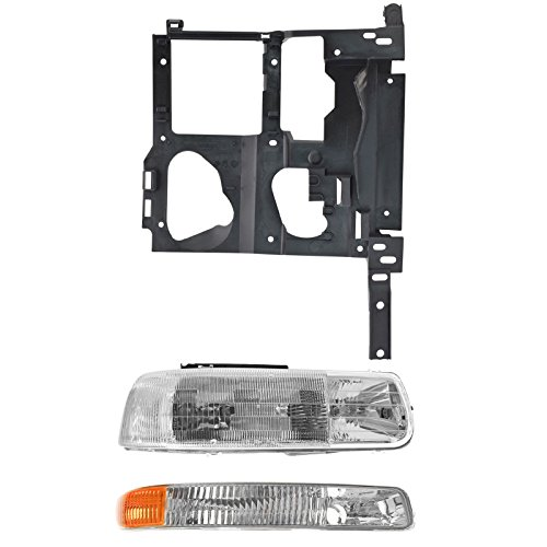 Headlight Parking Light Lamp Mounting Bracket Kit RH Set for 99-02 Chevy (Side Headlight Bracket)