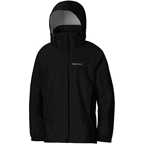 Marmot Girl's Precip Jacket, Black, X-Small