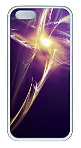 iPhone 5 5S Case Abstract Light TPU Custom iPhone 5 5S Case Cover White