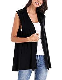 Women's Sleeveless Open Front Cardigan Vest Coat